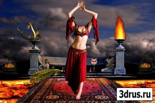 шаблон для фотошоп- танцовщица