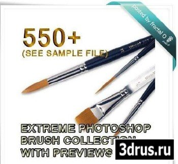 550+ Photoshop Brushes with previews
