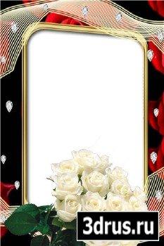 Frame Photo White Roses