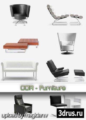 3D models of COR Furniture