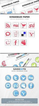 Scrambledpaper & Smooooth Social Icons