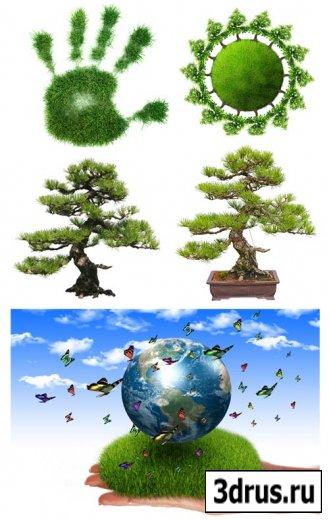 Stock Photo Зеленая планета