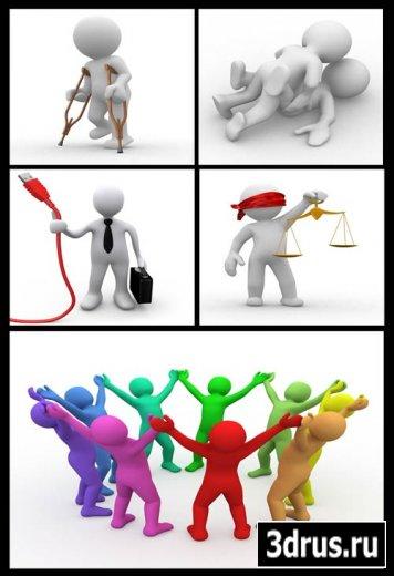 Stock Photo 3D Фигуры