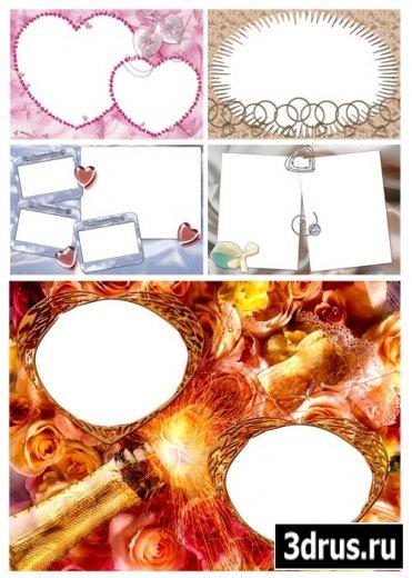 Рамочки на тему любви и свадьбы #5