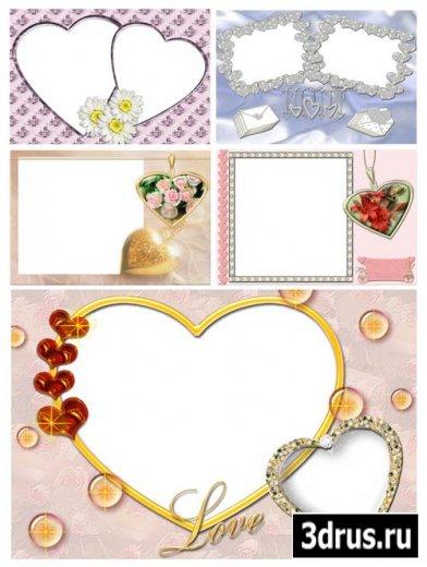 Рамочки на тему любви и свадьбы#4