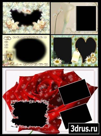 Рамочки на тему любви и свадьбы #1