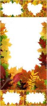 Photo Cliparts - Frame autumn leaves