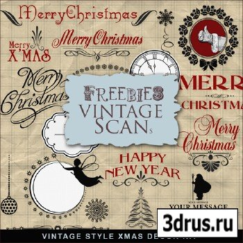 Scrap-kit - Vintage Style Christmas Decor