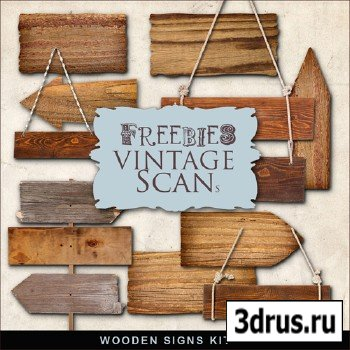 Scrap-kit - Wooden Signs