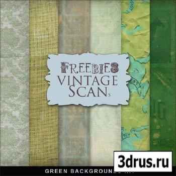 Textures - Green Vintage Backgounds