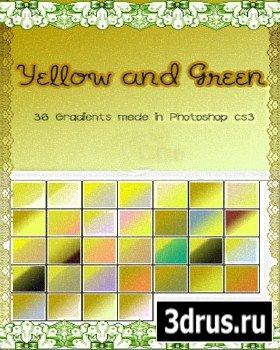 Желто зеленые градиенты