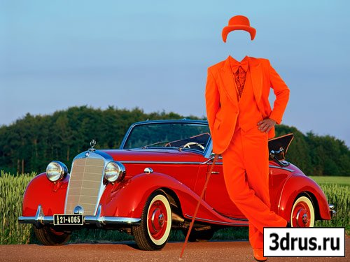 "Шаблон для фотошопа ""Мужчина в оранжевом костюме"""