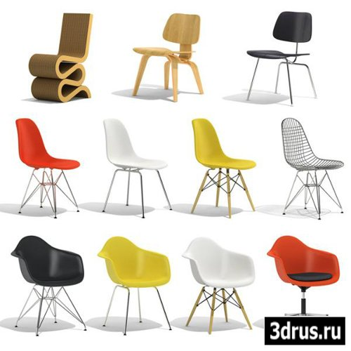 3D модели Vitra Стулья | 3D Models Vitra Chairs