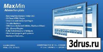 ThemeForest - MaxMin - Professional Admin Template - RiP