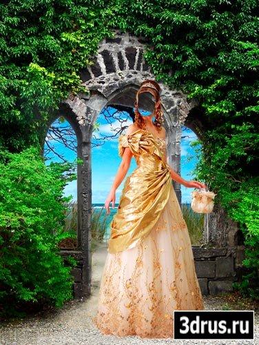 Шаблон для фотошопа Женщина в королевском платье