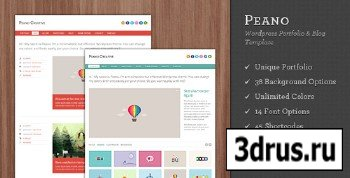 ThemeForest - Peano v1.5 - Creative WordPress Portfolio & Blog Theme