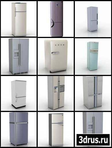 3D Modeli. refrigerators for homes and apartments