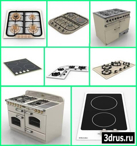 3D Models. cooking stoves