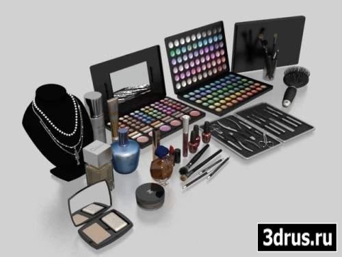 3D model for 3d Max. A set of cosmetics.