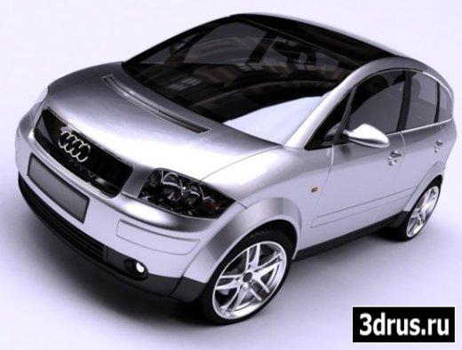 3D model. Car (AUDI A2)