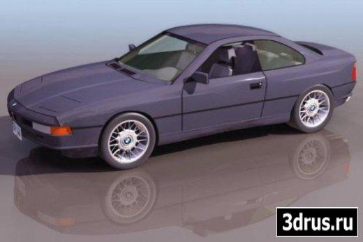 3D model. Car (BMW 850)