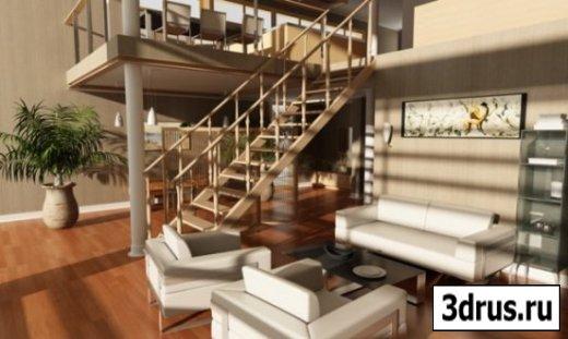 3D model. Interiors for 3d Studio Max 7