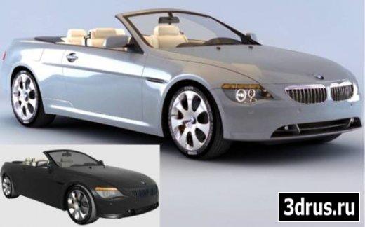 3D model for 3dsMax. Car (BMW 6 Convertible)