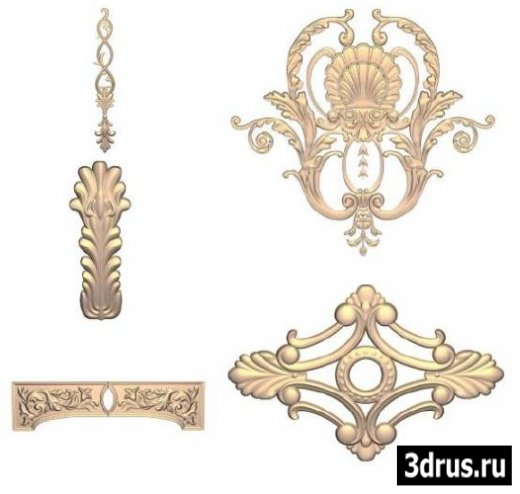 3D Models for 3dsMax. Decorative items / Декоративные элементы