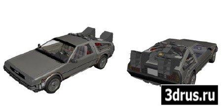 3D модель. Машина времени DeLorean