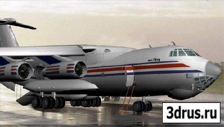 3d модель самолета ИЛ 76ТД