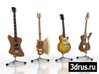 Гитары - 3d модели