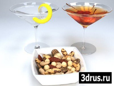 3D Models - Джин с орехами