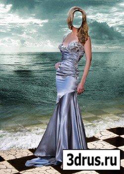 Шаблон для фотошопа – Красавица у моря