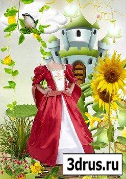 Шаблон для фотошопа – Принцесса в сказочной стране