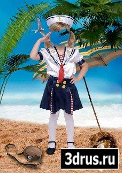 Шаблон для фотошопа – Маленькая моряка