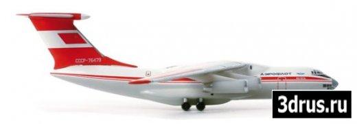 3D. Model plane IL 76TD