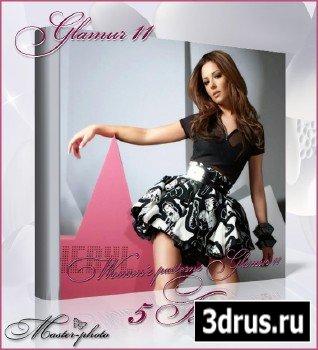 Женские шаблоны для фотошопа - Glamur 11