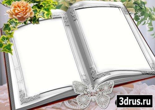 Рамка для фотошоп – Свадебный альбом