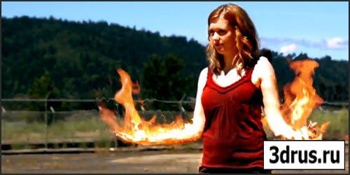 Футажи - Огонь,  Горящие вещи