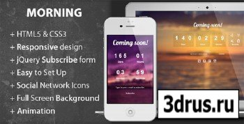 ThemeForest - Morning - Coming Soon Page - RIP