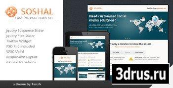 ThemeForest - Soshal Responsive Business Landing Page - RIP