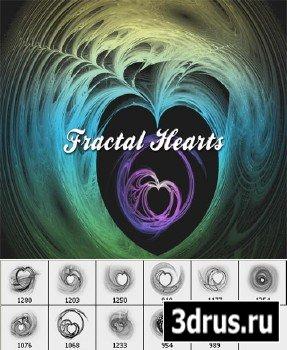 Кисти для Phonoshop - Фрактальные сердца