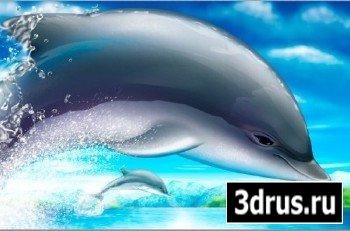 Многослойный PSD исходник - Дельфин