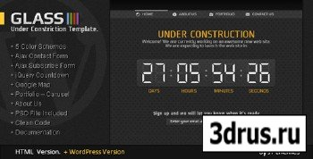 ThemForest - Glass Coming Soon Under Construction Template