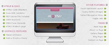 ThemeForest - «Mother» Template - RIP