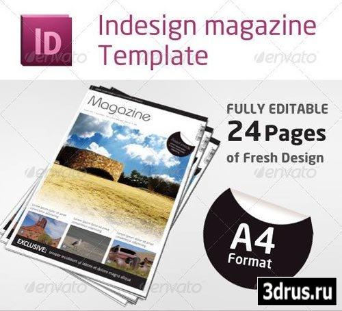 Шаблон журнала на 24 страницы в PSD