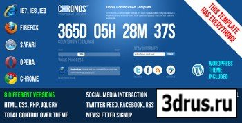 ThemeForest - Chronos Under Construction Template + WP Theme