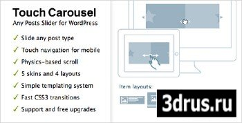 СodeСanyon - TouchCarousel v1.2 - Posts Content Slider for WordPress