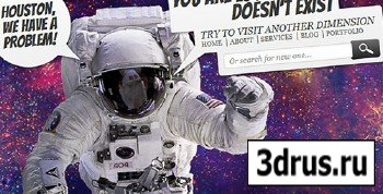 ThemeForest - Lost in Space Error 404 RETAIL