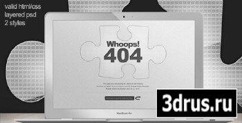ThemeForest - Custom 404 Error Page - Missing Jigsaw Piece RETAiL